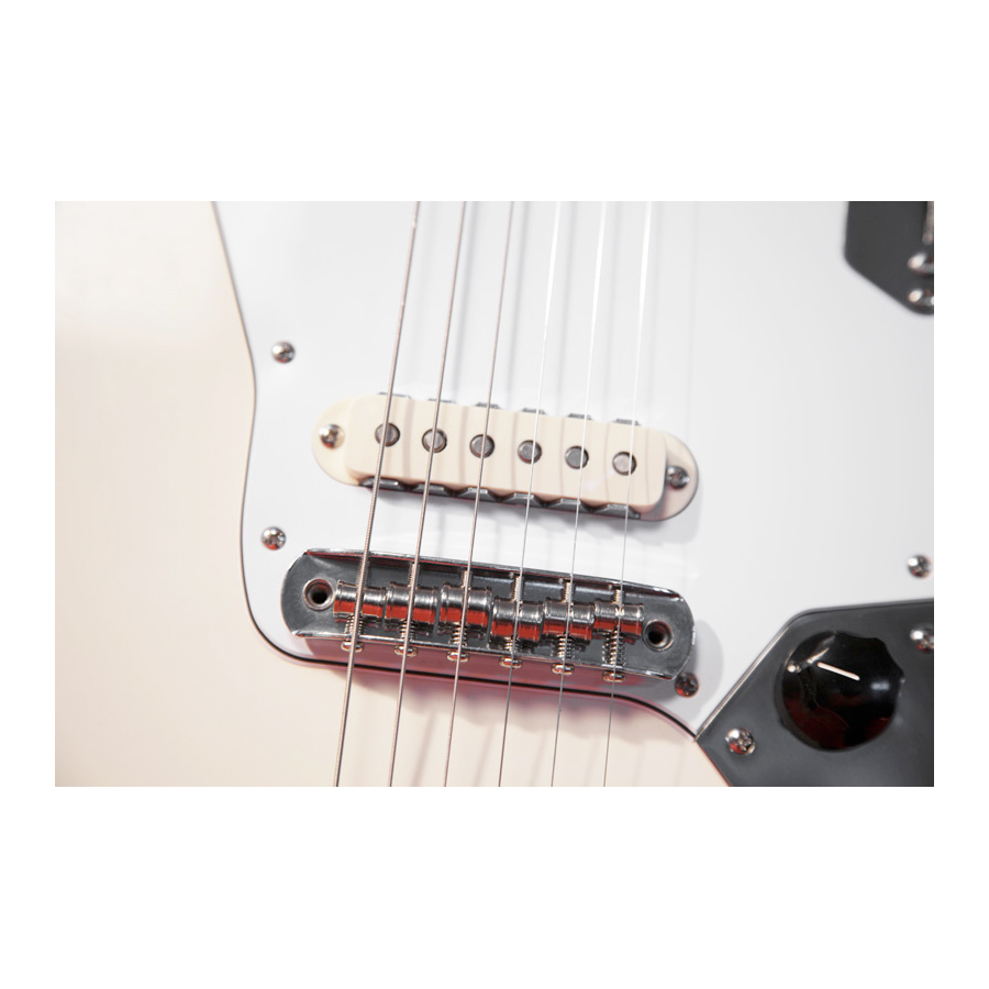 Fender Johnny Marr Jaguar® Olympic White Pickup Detail