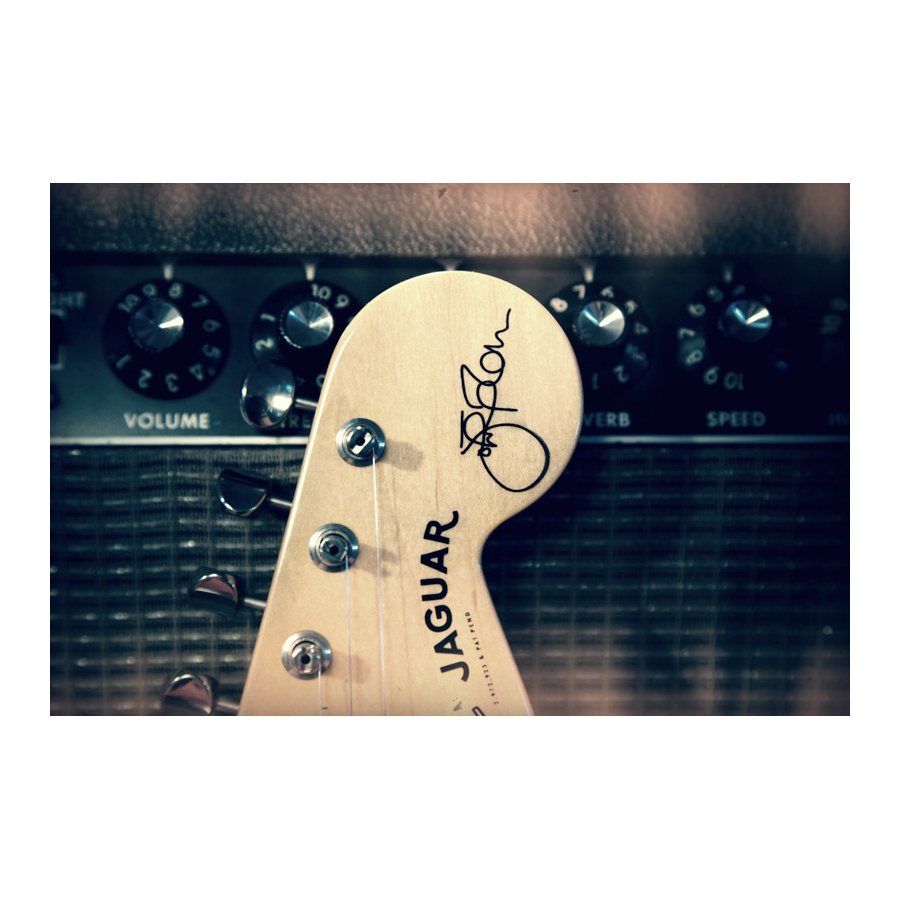 Fender Johnny Marr Jaguar® Olympic White Headstock