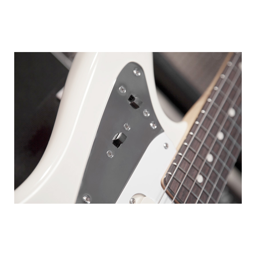 Fender Johnny Marr Jaguar® Olympic White Body Detail