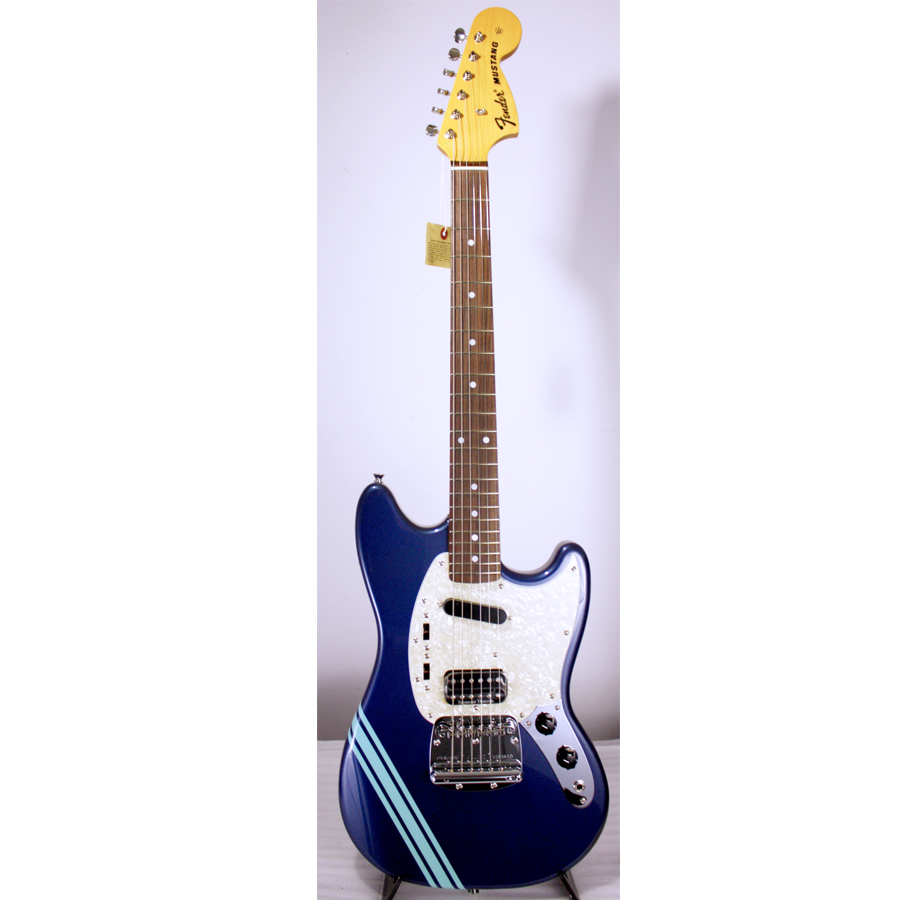 Kurt Cobain Mustang Dark Lake Placid Blue with Stripe