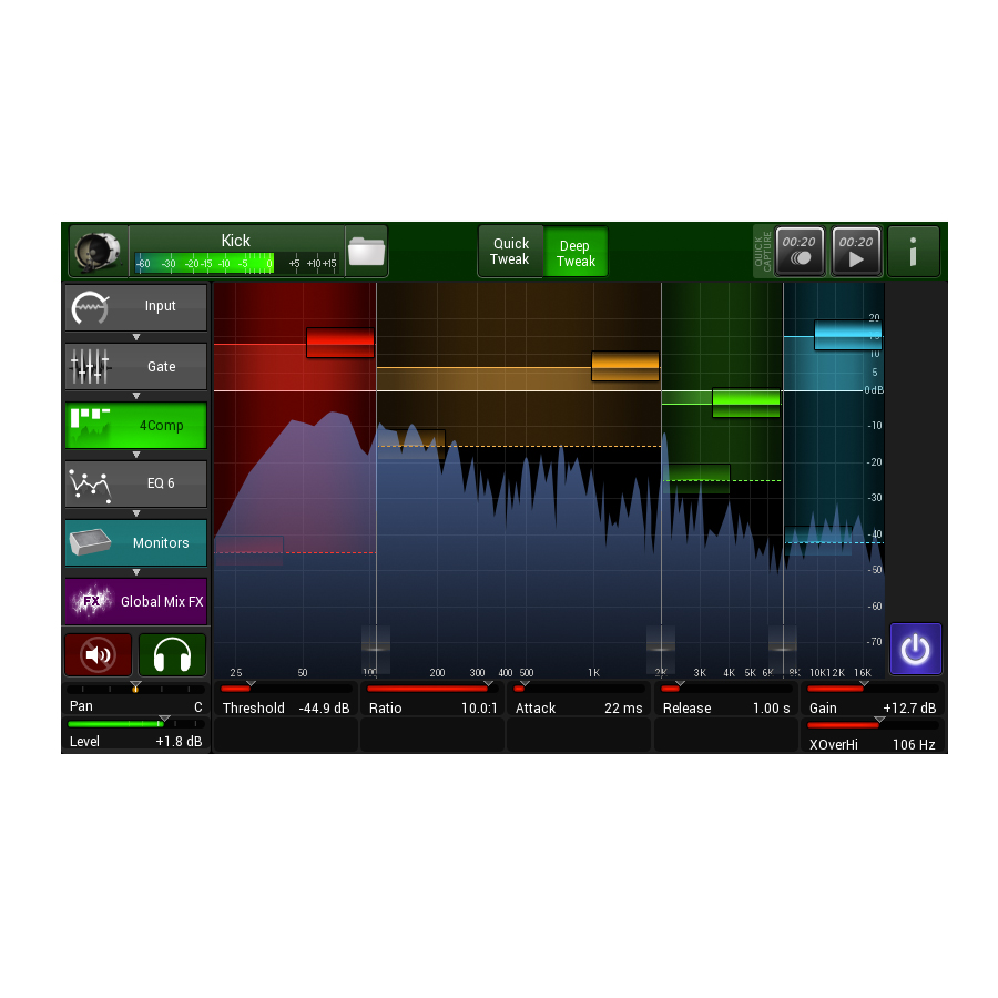 Line 6 StageScape M20d Screen View 2