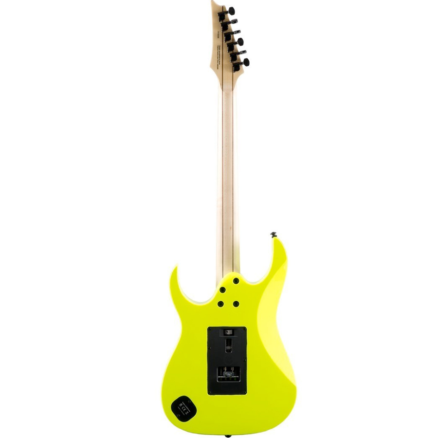 Ibanez RG1XXV Fluorescent Yellow Rear View