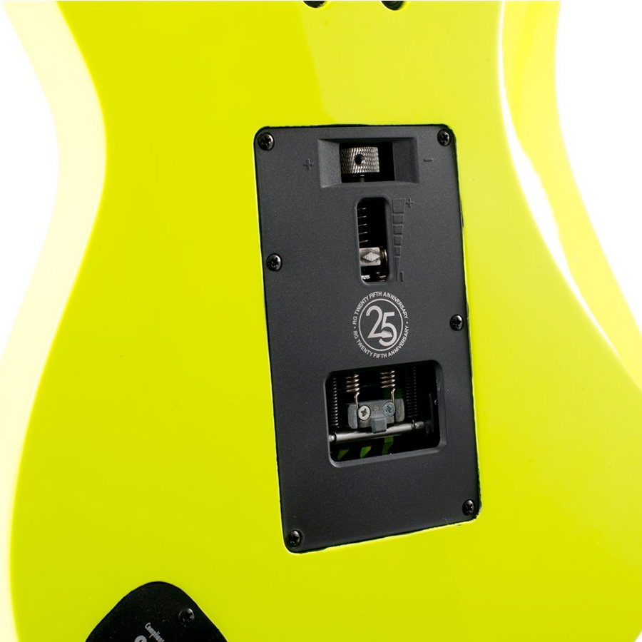 Ibanez RG1XXV Fluorescent Yellow Rear Body Detail