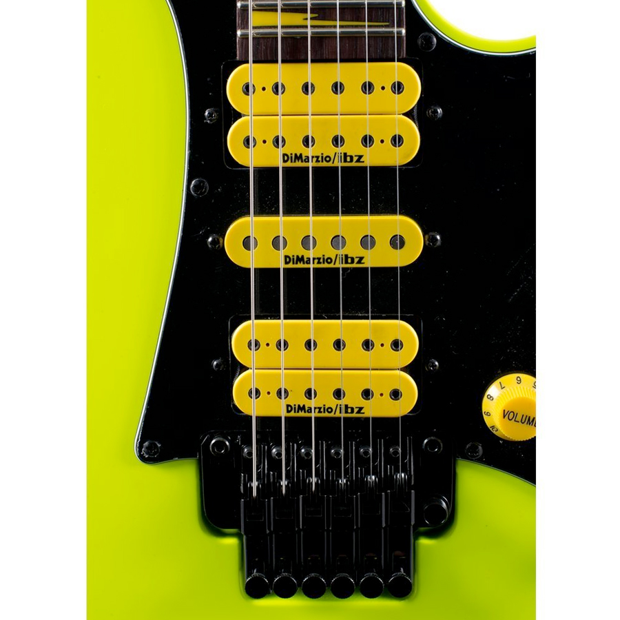 Ibanez RG1XXV Fluorescent Yellow Pickup Detail