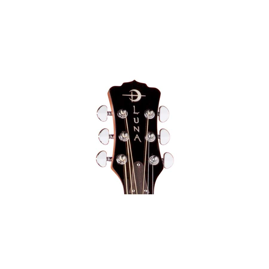 Luna Guitars Oracle Rose Headstock