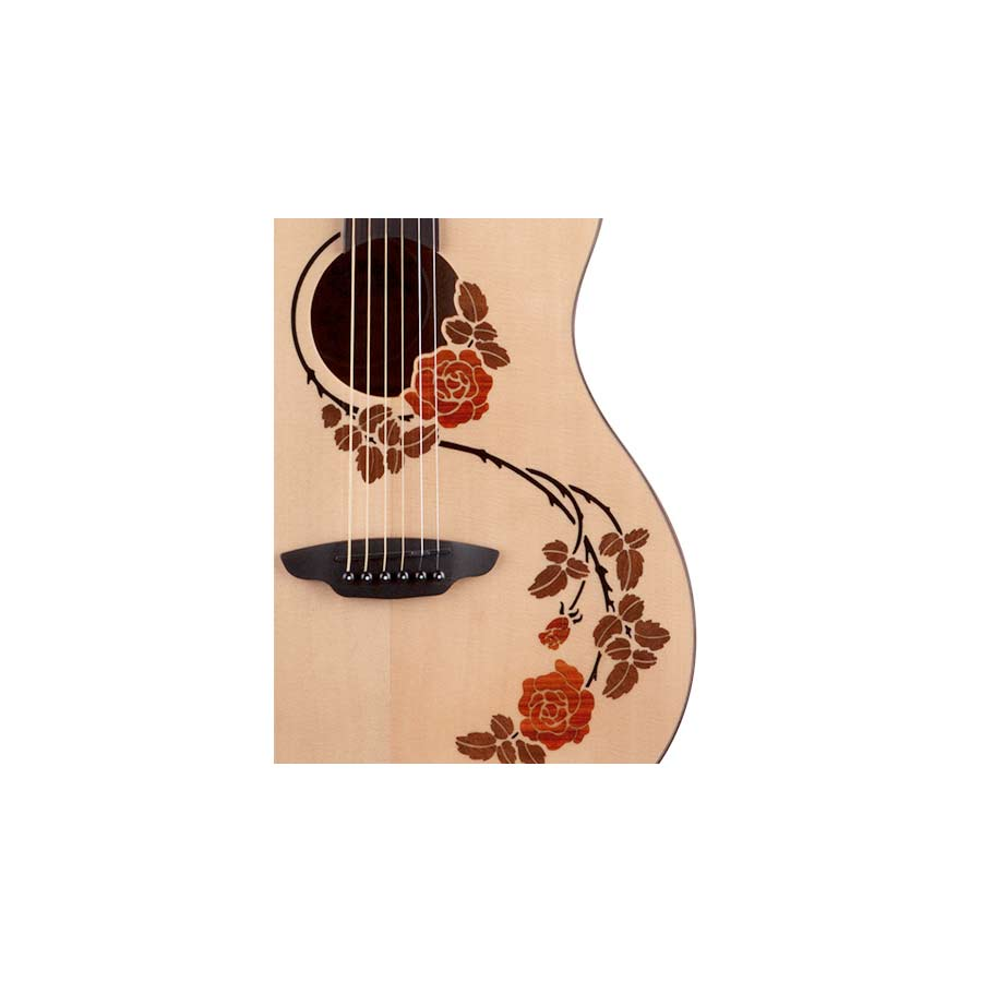 Luna Guitars Oracle Rose Rose Detail