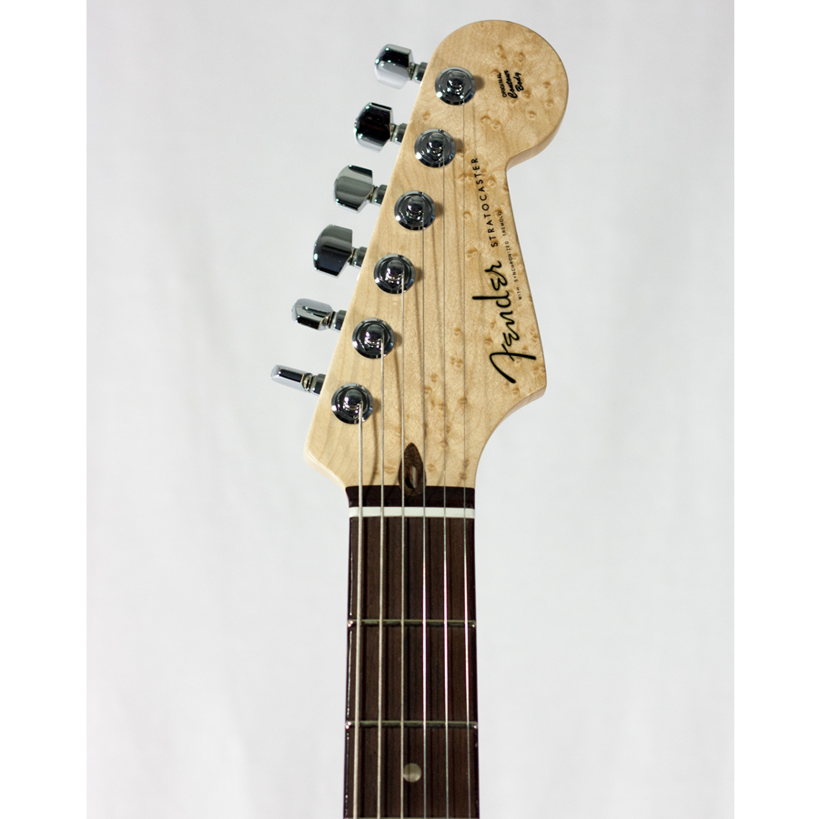 Fender Custom Shop 2011 Deluxe Stratocaster Candy Blue Headstock Detail