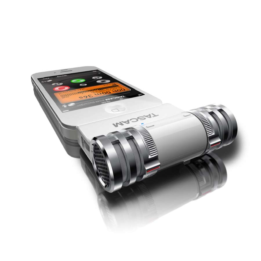 Tascam iM2 On iPhone White