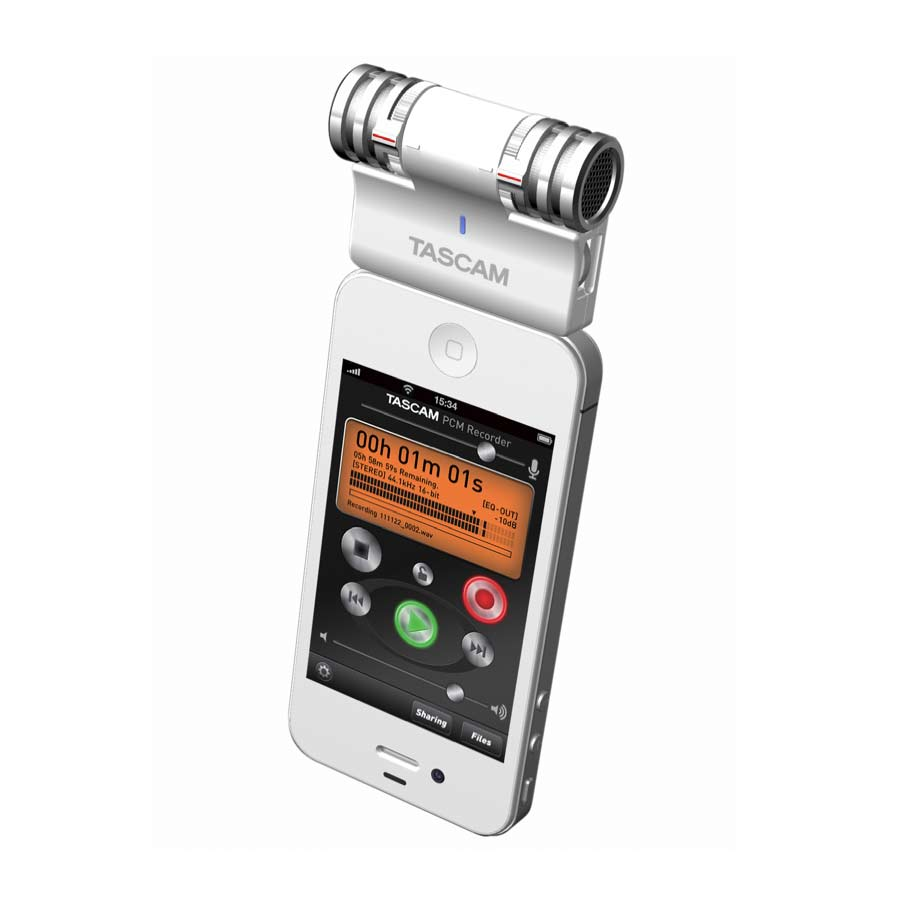 Tascam iM2 On iPhone 2 White