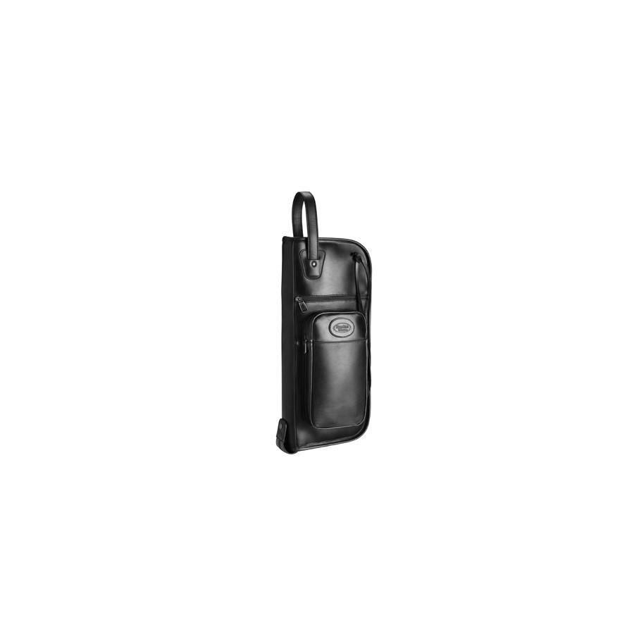 Extra Large Leather Stick & Mallet Bag Black