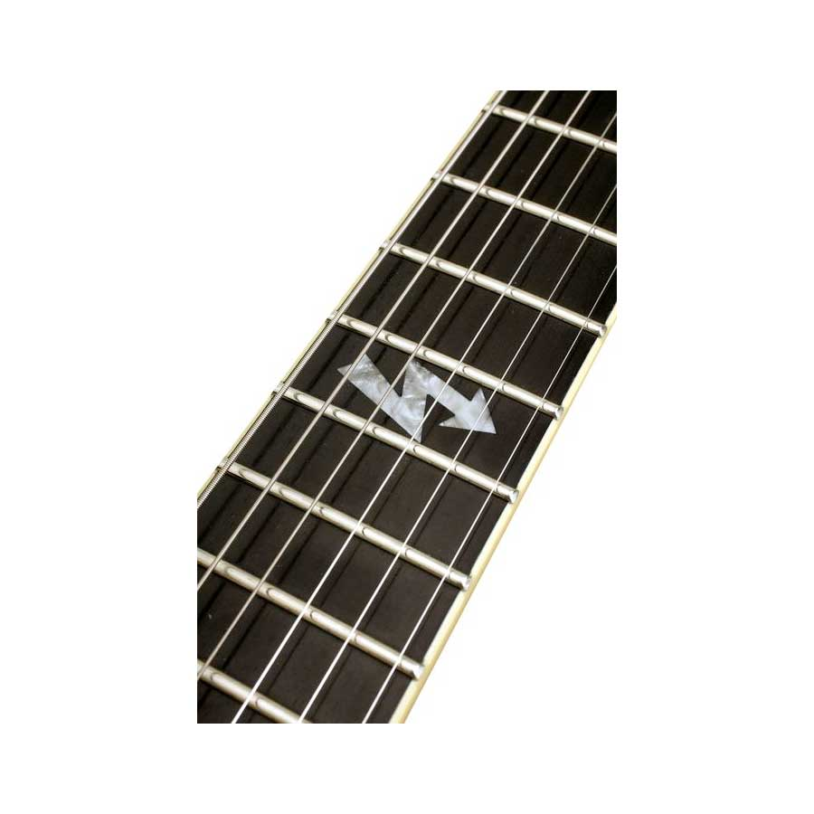 Schecter C-7 Blackjack ATX - Aged Black Satin Inlay Detail