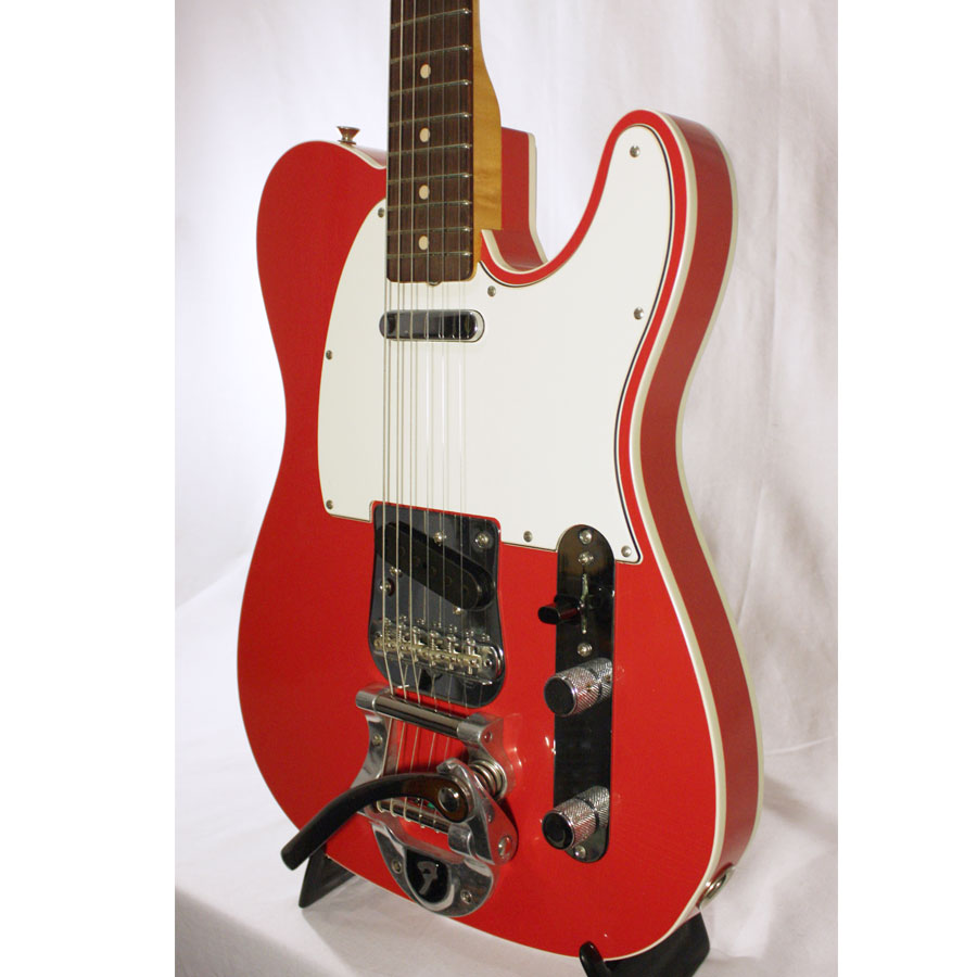 Fender Custom Shop Limited Telecaster Fiesta Red Angled Body