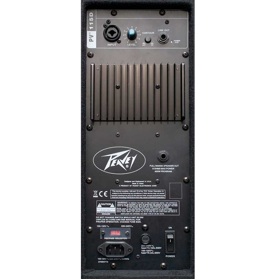 Peavey PV115D Rear View