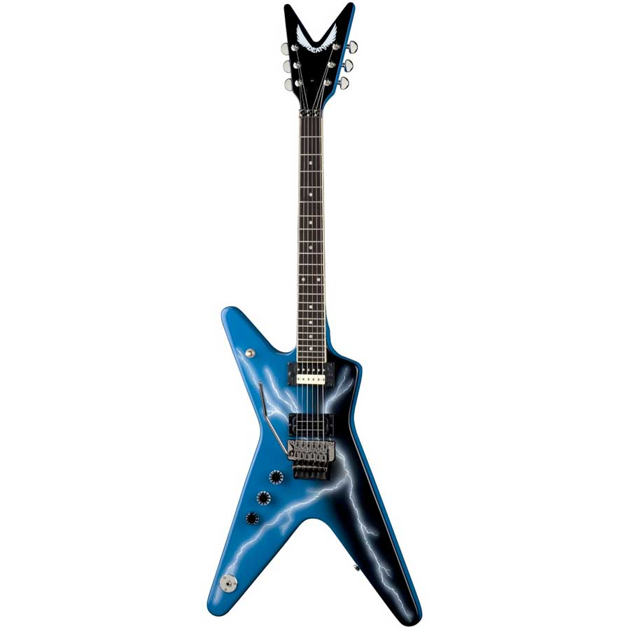 dean dime from hell ml lefty left handed electric guitar w lightening bolt new ebay. Black Bedroom Furniture Sets. Home Design Ideas