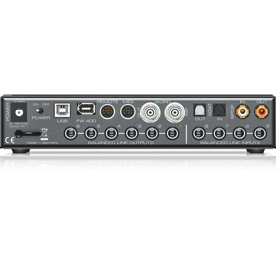 RME Audio Fireface UCX Rear View