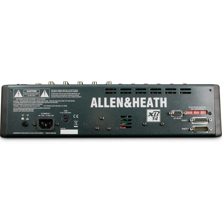 Allen Heath XB-14 Rear View