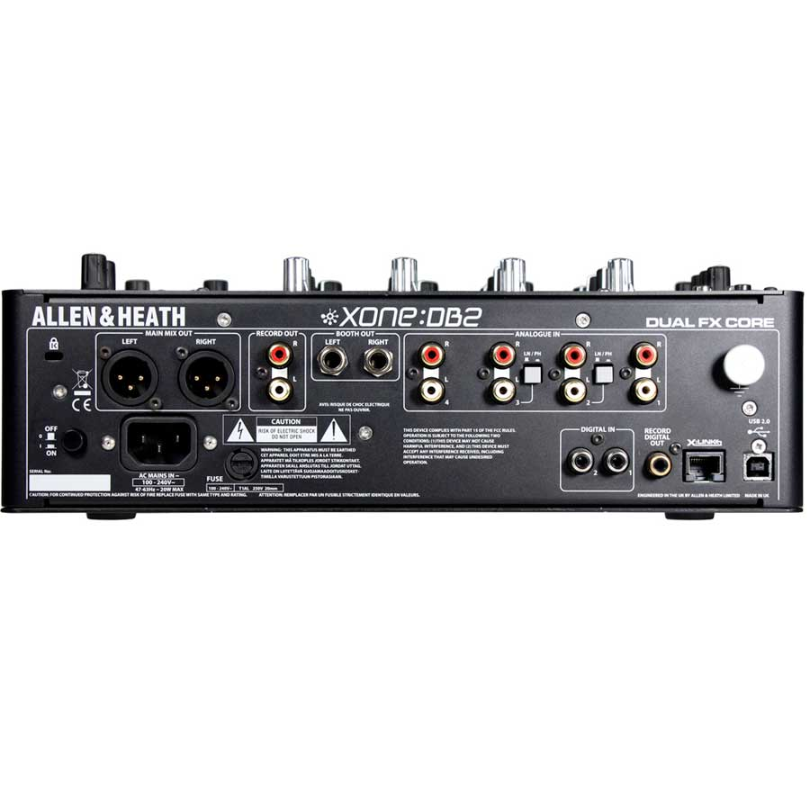 Allen Heath Xone:DB2 Rear View