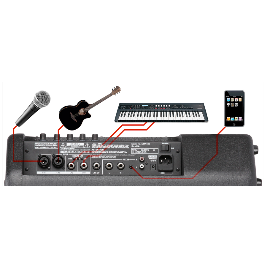 Korg MMA130 Connections