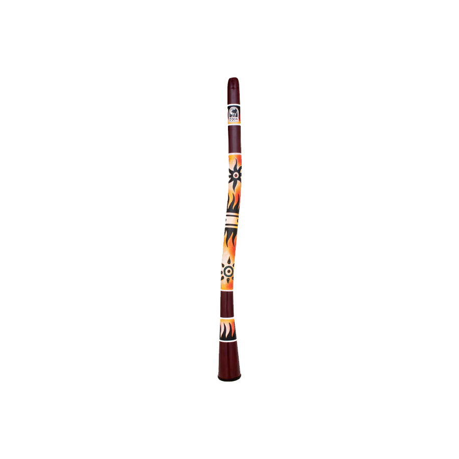 Curved Didgeridoo 50-Inch Tribal Sun