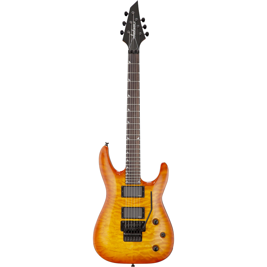 Jackson SLATXMGQ3-6 Soloist Transparent Black Transparent Amber Sunburst