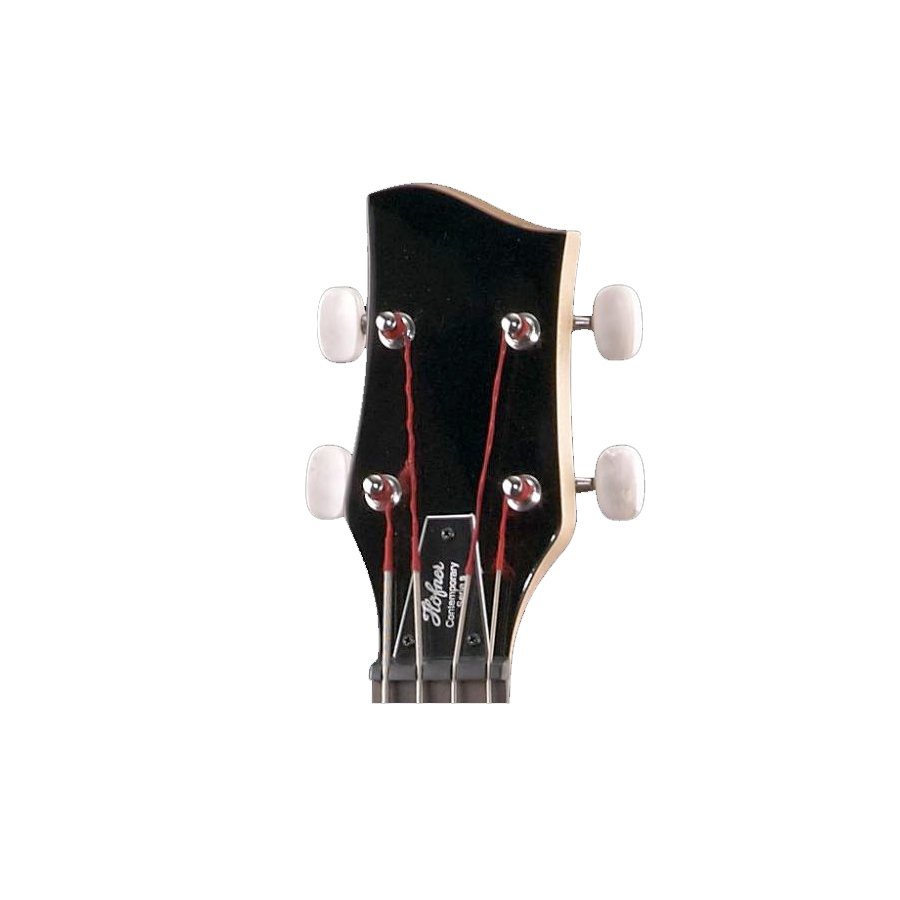 Hofner Shorty Bass Guitar Black Headstock