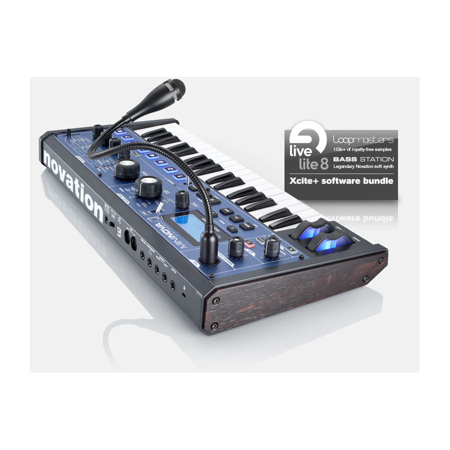 Novation MiniNova  Angled View
