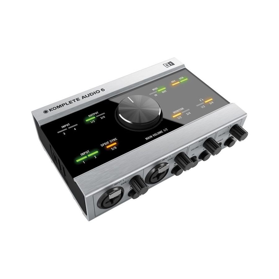 Native Instruments Komplete Audio 6 Angled View