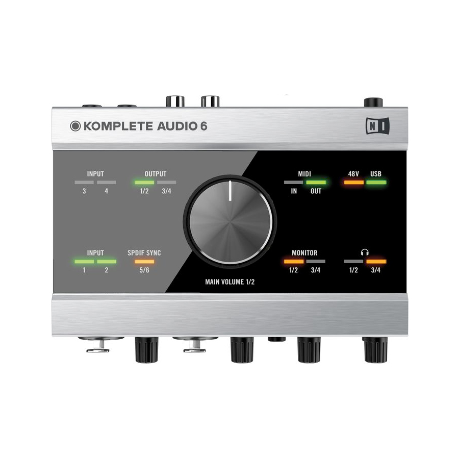 Native Instruments Komplete Audio 6 Top View