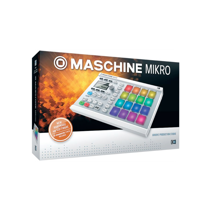 Native Instruments Maschine Mikro MK2 White Box View