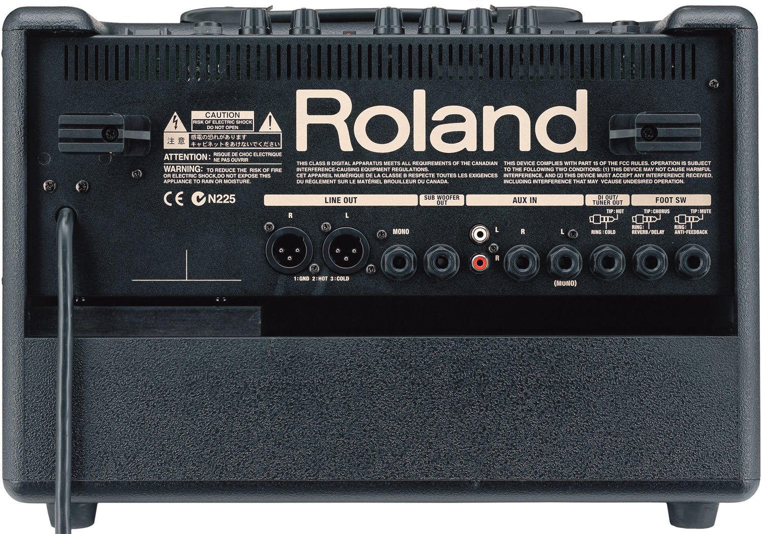 Roland AC-60 Rear View