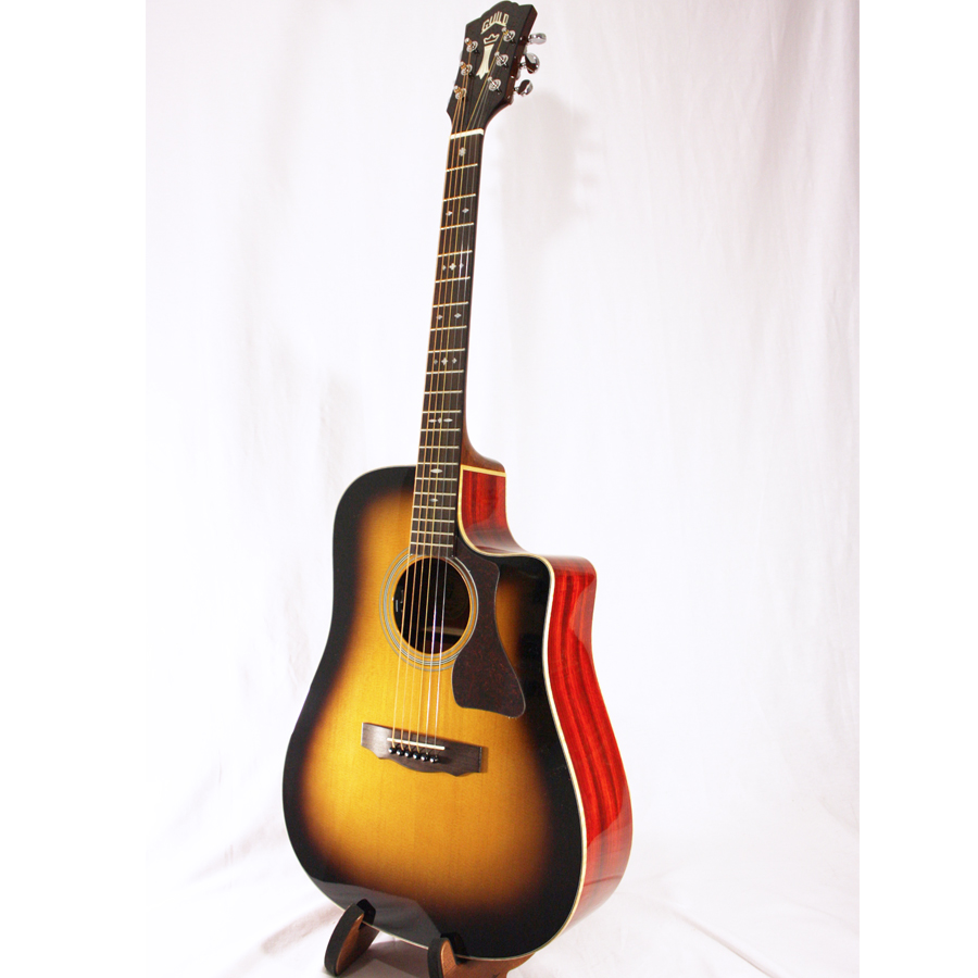 Guild GAD-50PCE Antique Burst Angled View