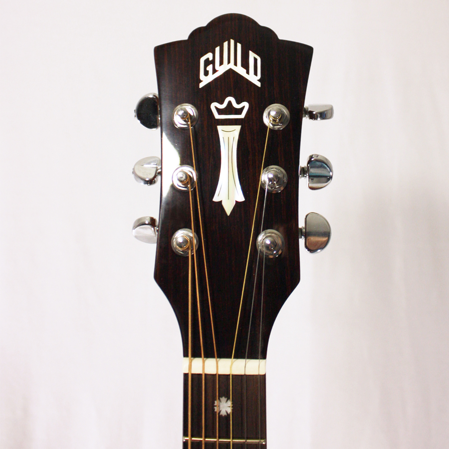 Guild GAD-50PCE Antique Burst Headstock