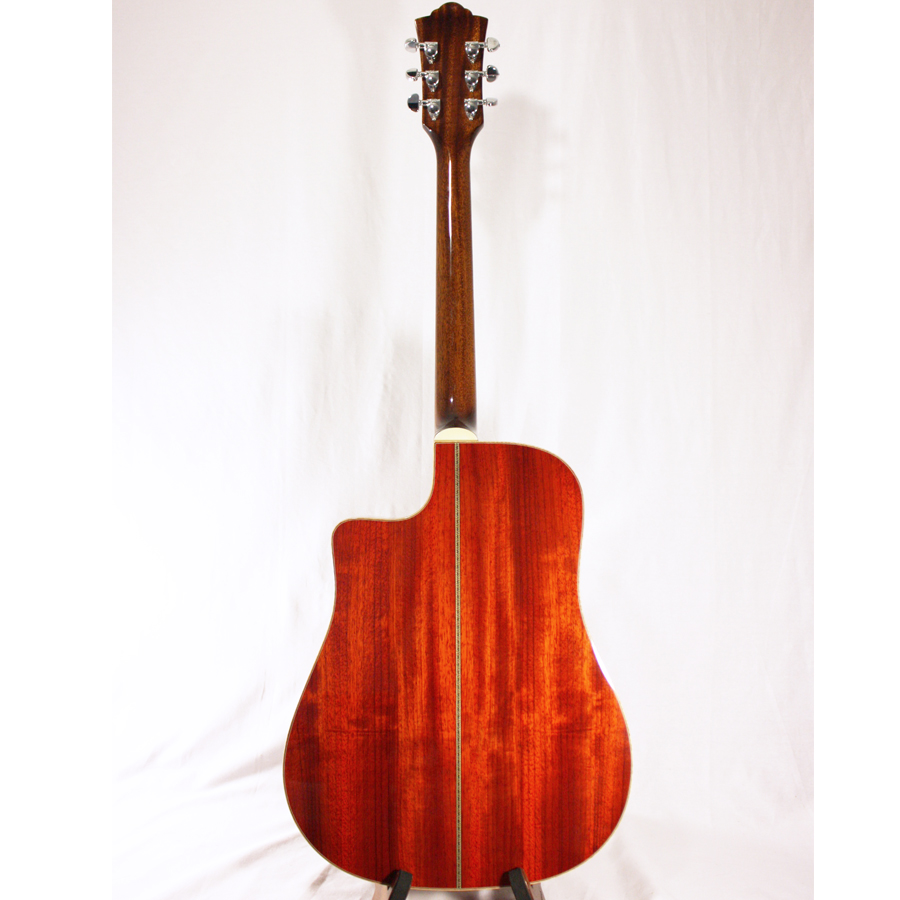Guild GAD-50PCE Antique Burst Rear View