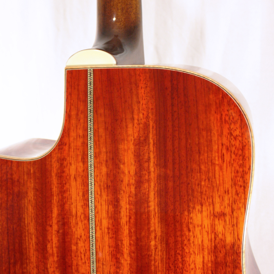 Guild GAD-50PCE Antique Burst Rear Detail