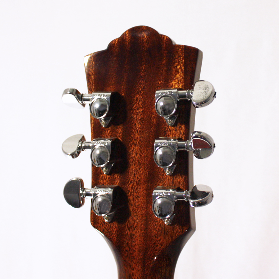 Guild GAD-50PCE Antique Burst Rear Headstock