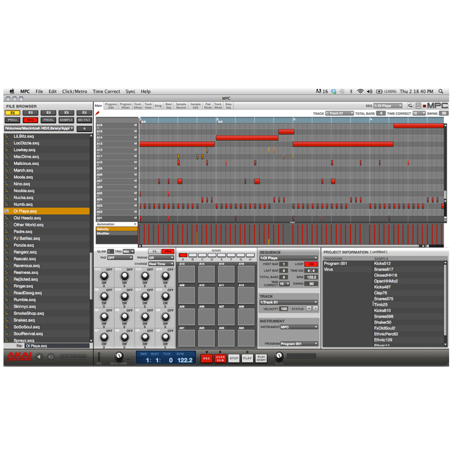 Akai Professional MPC Renaissance Controller Screenshot 2