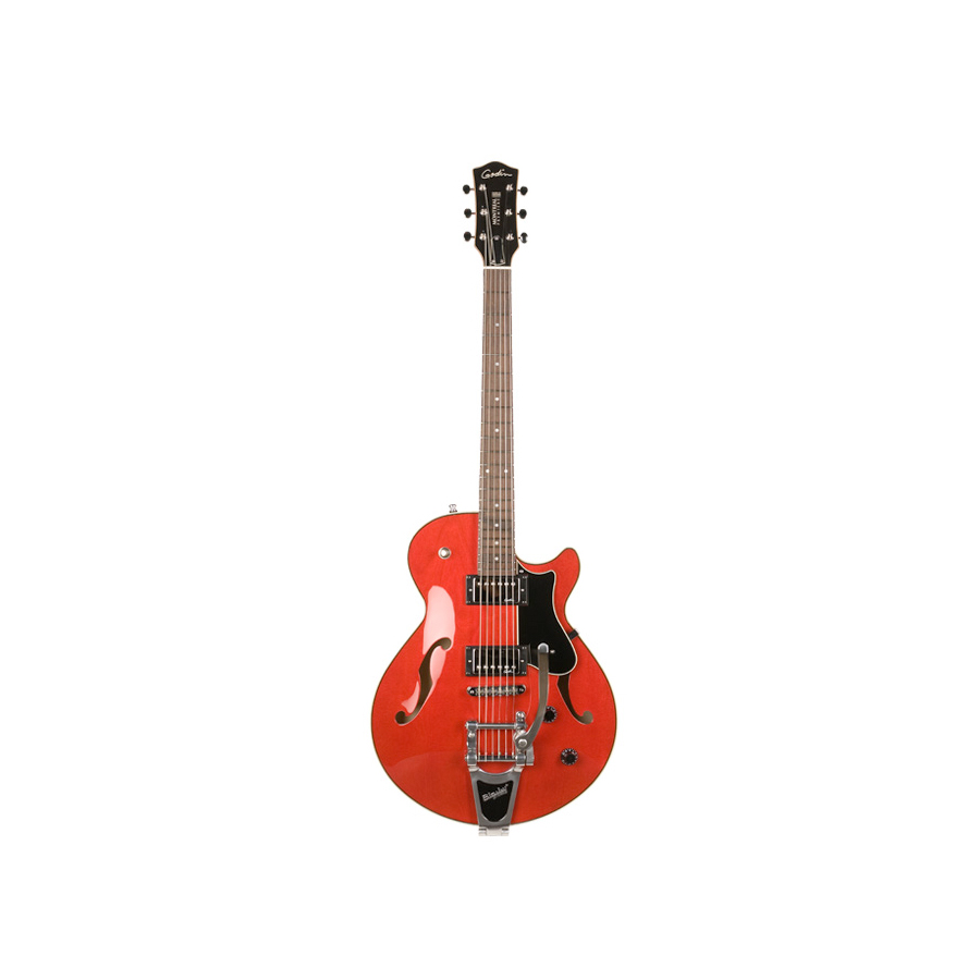 Godin Montreal Premiere Natural Transparent Red w/ Bigsby