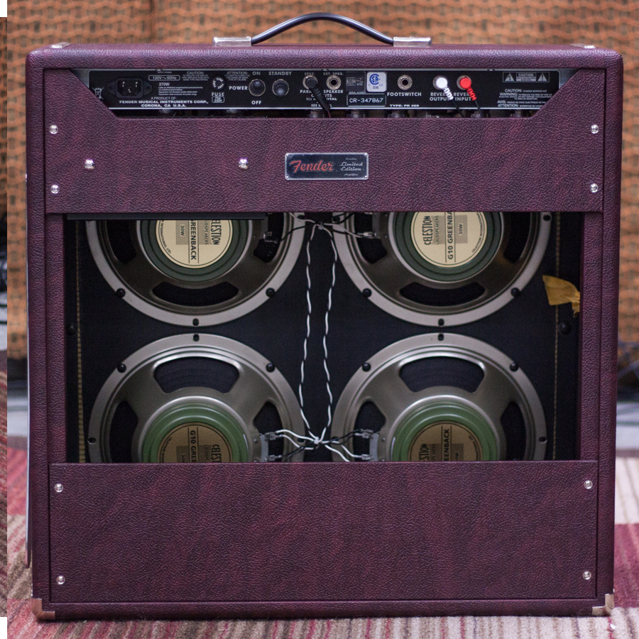 Fender FSR 65 Super Reverb Burgundy Wheat Rear View
