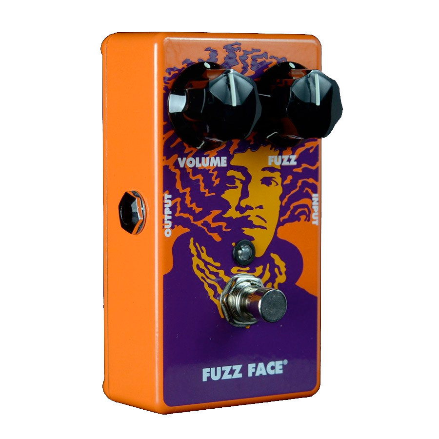 Dunlop JHM1 Jimi Hendrix Fuzz Face Angled View