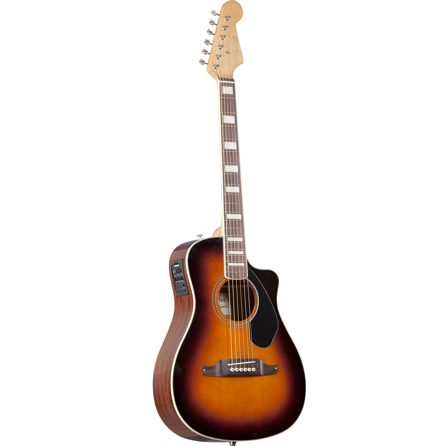 Fender Malibu SCE 3-Color Sunburst Angled View