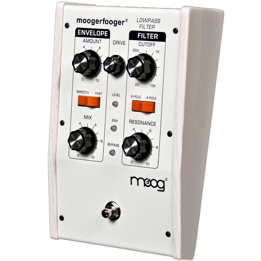 Moog MF-101 Lowpass Filter White Angled View