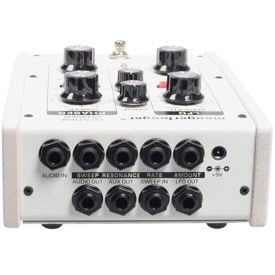 Moog MF-103 12-Stage Phaser White Angled View