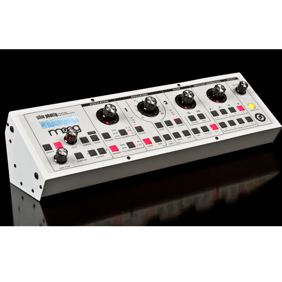 Moog Slim Phatty White Rear View