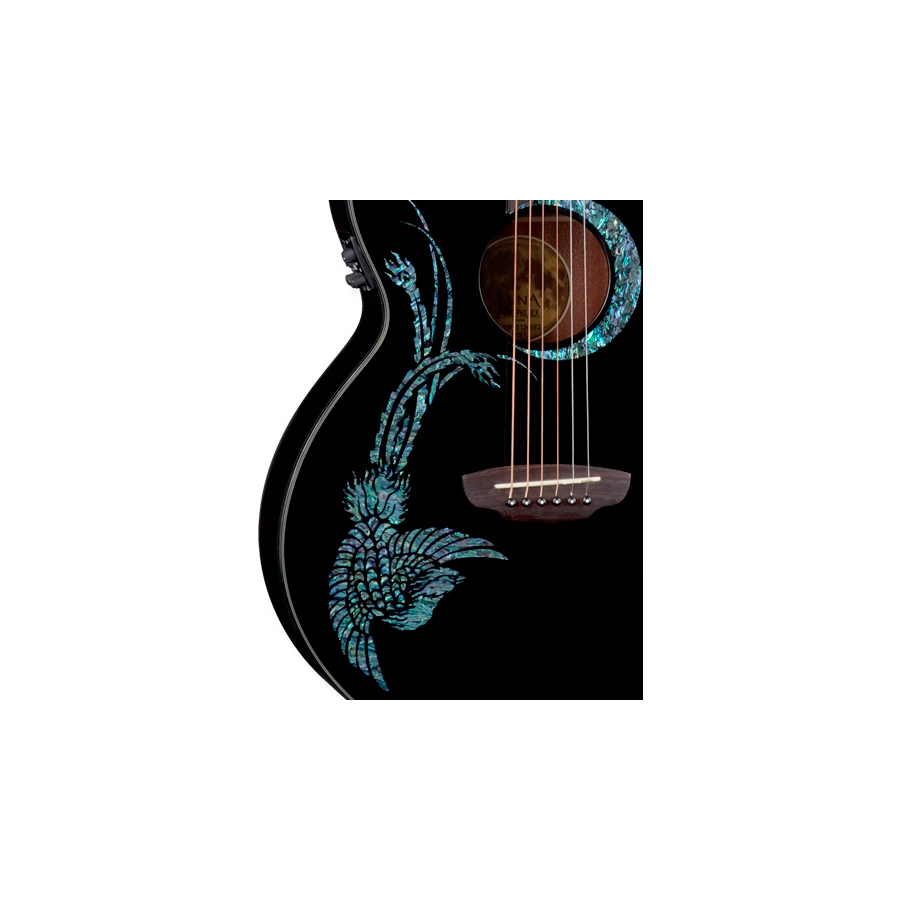 Luna Guitars Fauna Series Phoenix Lefty Phoenix Detail