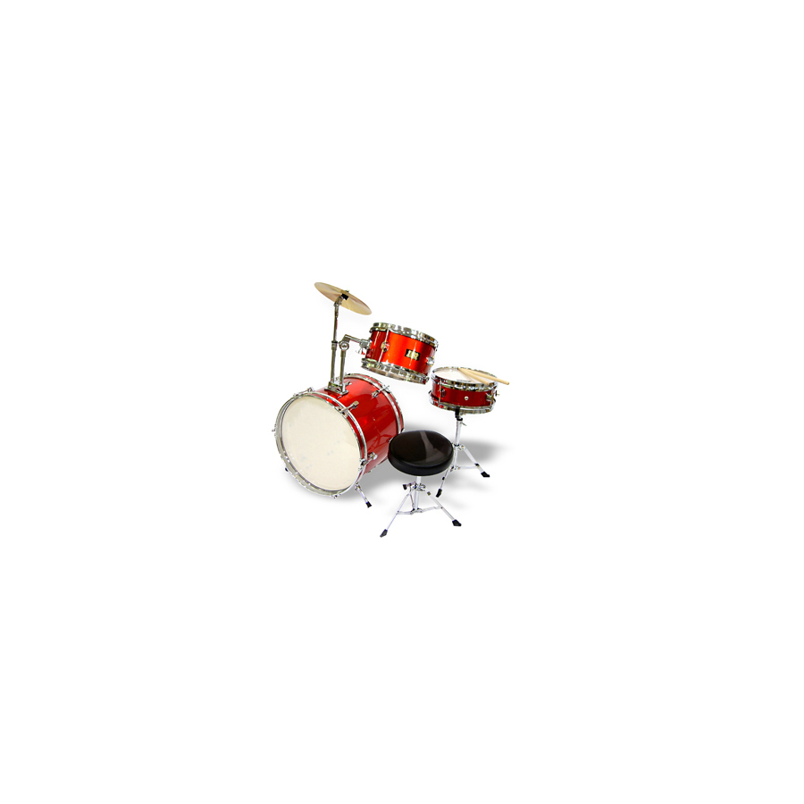 3-Piece Junior Drum Set Red