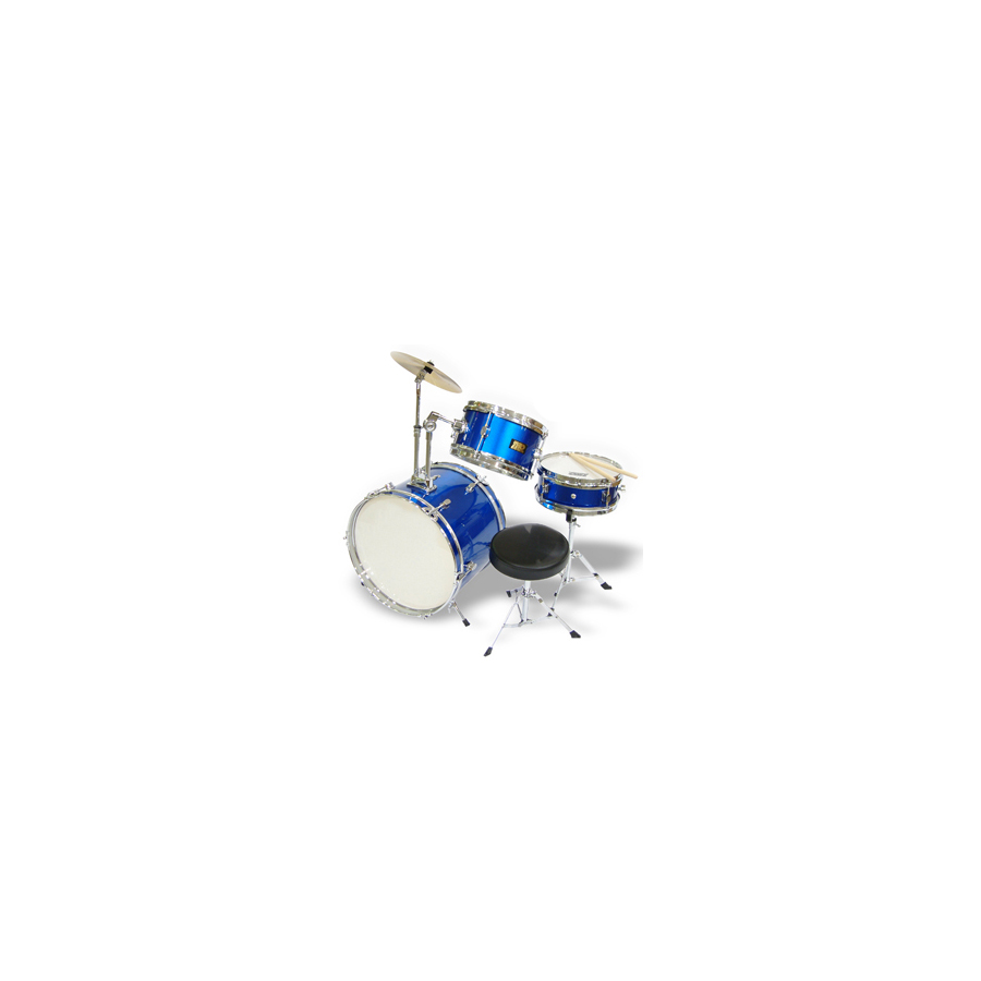 3-Piece Junior Drum Set Blue