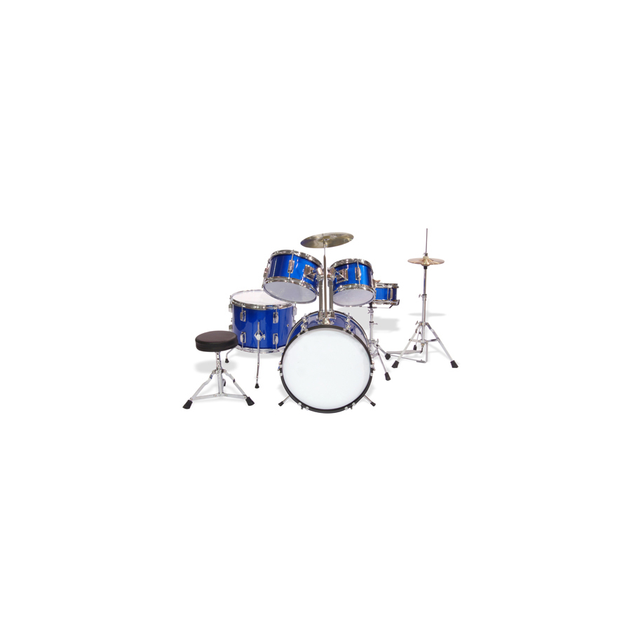 5-Piece Junior Drum Set Blue