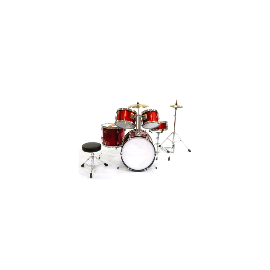 5-Piece Junior Drum Set Red