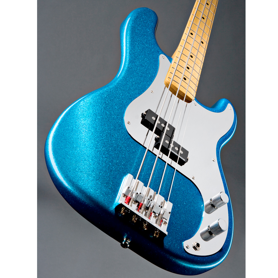 Fender Steve Harris Precision Bass Royal Blue Metallic Angled View