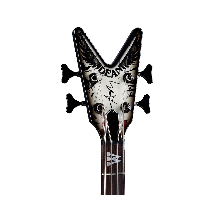 Dean Ashley Purdy Black Veil Brides Outlaw Cadi Bass Headstock